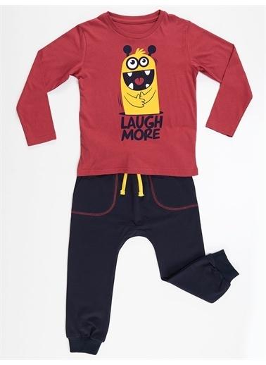 Denokids Cute Monster Pantolon Takım Renkli